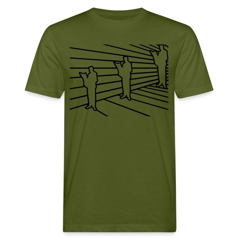 3D Illusion - Männer Bio-T-Shirt