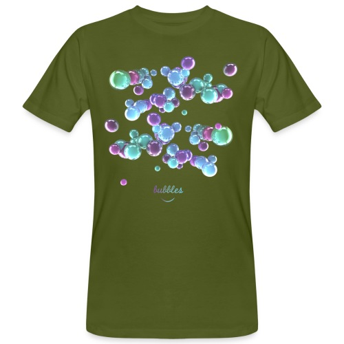 3D Bubbles - Männer Bio-T-Shirt