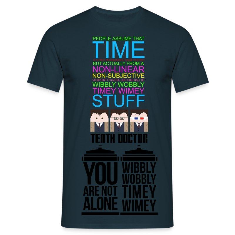 Timey Wimey Wibbly Wobbly - Men's T-Shirt