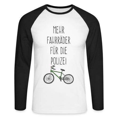 Fährräder für Polizei - Männer Baseballshirt langarm