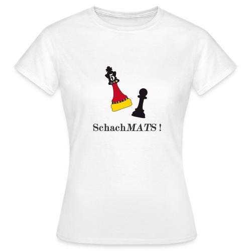 Frauen T-Shirt Schach Mats - Frauen T-Shirt