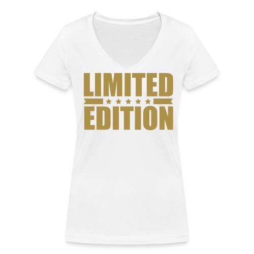 Limited Edition Klassik Gold - Frauen Bio-T-Shirt mit V-Ausschnitt von Stanley & Stella