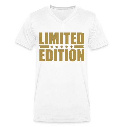 Limited Edition Klassik Gold - Männer Bio-T-Shirt mit V-Ausschnitt von Stanley & Stella