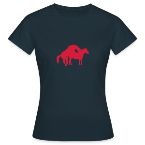 chevaux cheval amour saillie 0 Tee shirts - T-shirt Femme
