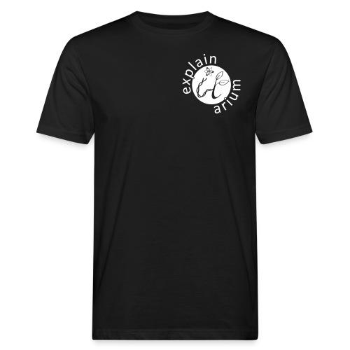 Das Tüpfelchen auf dem i - weiss - Männer Bio-T-Shirt
