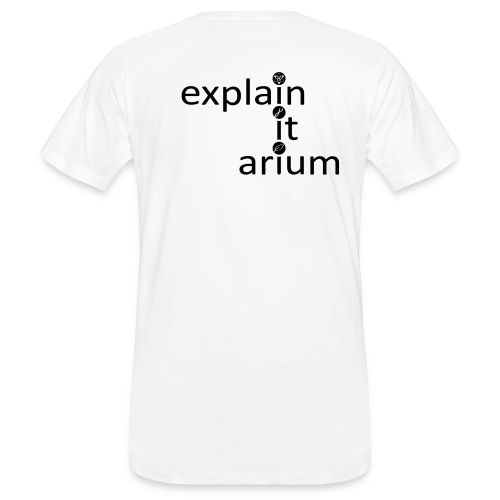 Das Tüpfelchen auf dem i - schwarz - Männer Bio-T-Shirt
