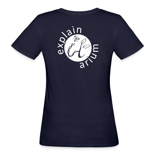 Explain-It-Arium - weisses Logo - Frauen Bio-T-Shirt