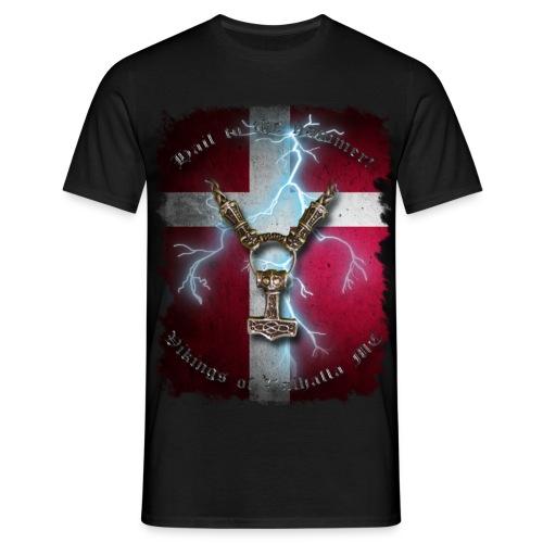 Hail to the hammer Dannebrog - herre t-shirt - Herre-T-shirt