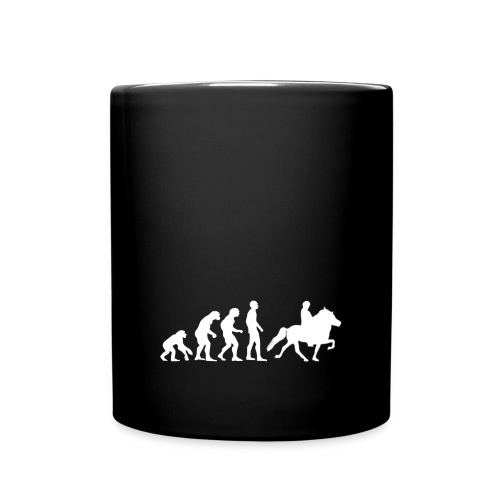 Tasse Evolution Islandpferdereiter - Tasse einfarbig