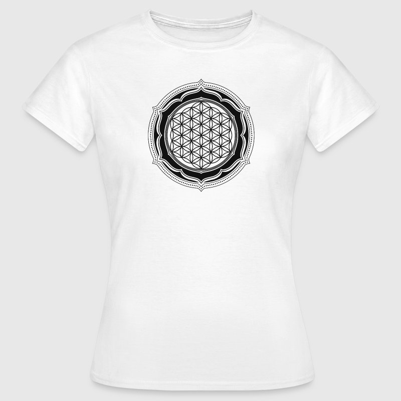 Flower of Life, Energy Symbol, Sacred Geometry T-Shirts - Women's T-Shirt