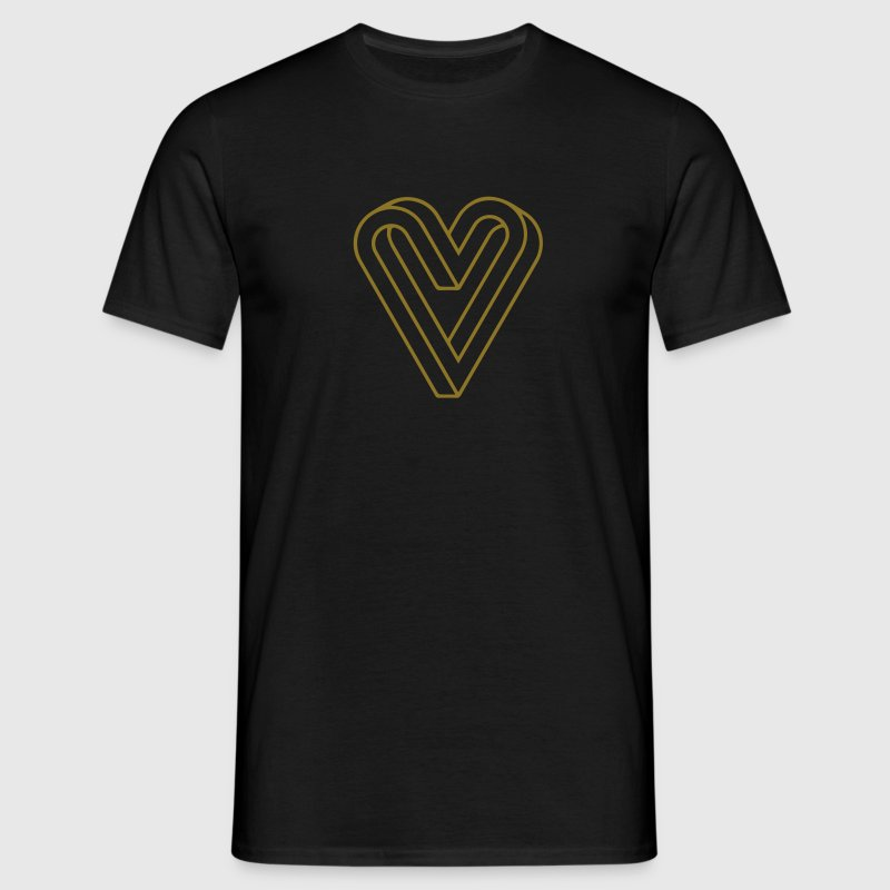 Impossible Heart, Optical Illusion Tee shirts - T-shirt Homme