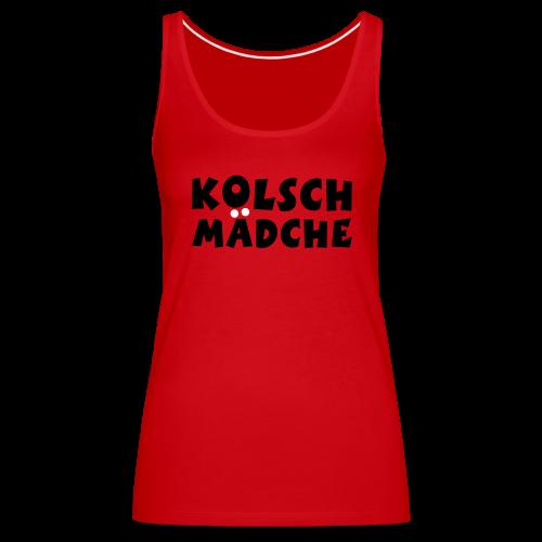 Kölsch Mädche met Ö un Ä (Schwarz/Weiß) Tank Top - Frauen Premium Tank Top