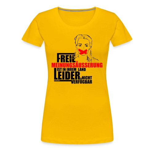 Meinungsfreiheit - Damen - Frauen Premium T-Shirt
