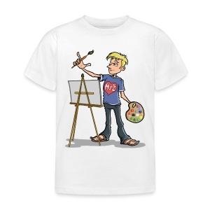 I love Art (boy) - Kids' T-Shirt
