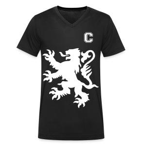 T-shirt White Lion - Mannen bio T-shirt met V-hals van Stanley & Stella