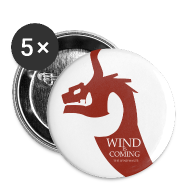 Badges ~ Badge moyen 32 mm ~ Wind is coming