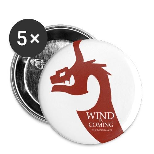 Wind is coming - Lot de 5 moyens badges (32 mm)