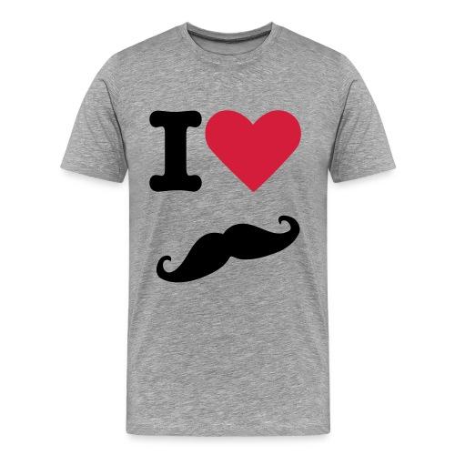 Tee shirt I'love Moustache SWAG - T-shirt Premium Homme