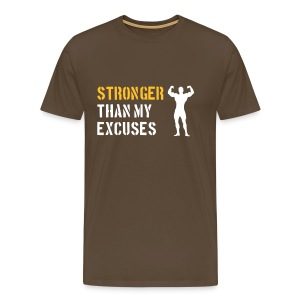 Stronger than my excuses - Mannen Premium T-shirt