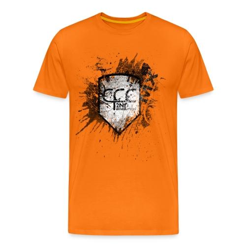 CCC Wappen grunged black MX - Männer Premium T-Shirt