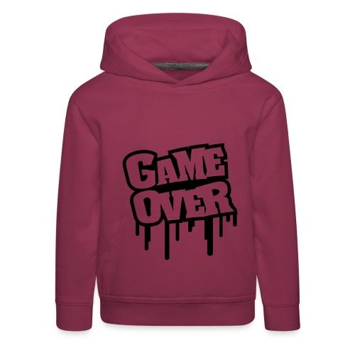 Game Over! - Premium hættetrøje til børn