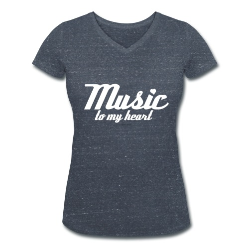 Music to my heart - Vrouwen bio T-shirt met V-hals van Stanley & Stella