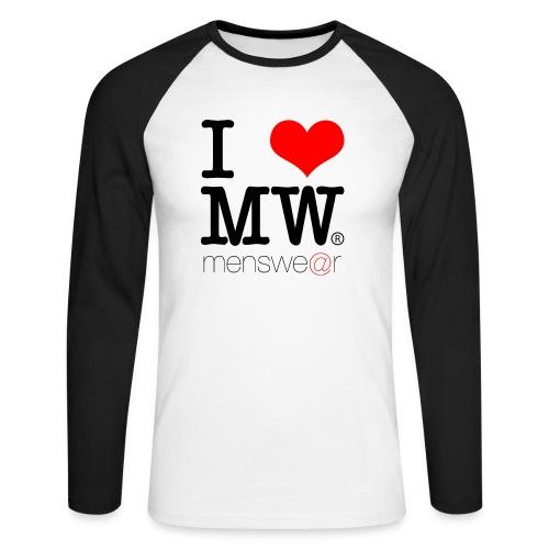 i heart menswe@r baseball tee - Men's Long Sleeve Baseball T-Shirt