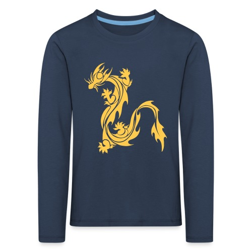 Kinder Draak Sweater - Kinderen Premium shirt met lange mouwen