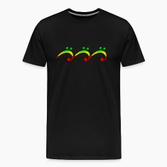 Reggae, music, notes, bass clef, wave, surf,  T-Shirts