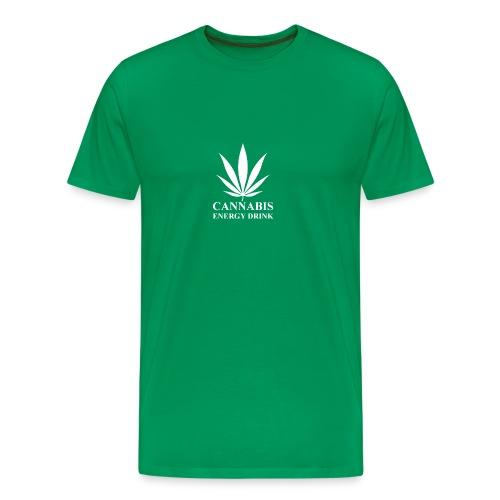 T-shirt cannabis energy drink blanc - T-shirt Premium Homme