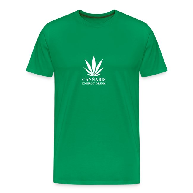 T-shirt cannabis energy drink blanc
