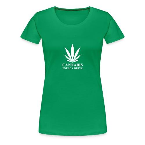 T-shirt cannabis energy drink blanc - T-shirt Premium Femme