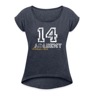 14 Academy - Vrouwen T-shirt met opgerolde mouwen