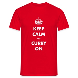 Keep Calm and Curry On T-Shirt for Men - Men's T-Shirt