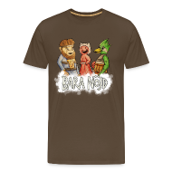 T-shirts ~ Premium-T-shirt herr ~ Bara nöjd citat