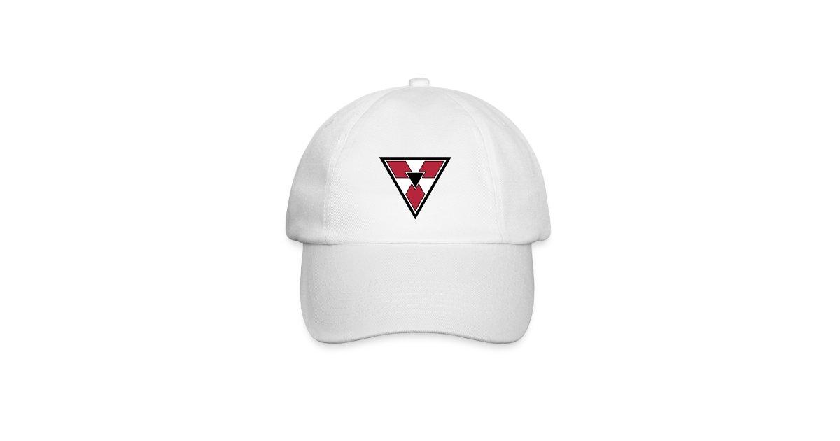 0261e4a5 maximegalon | + Cap with triangular symbol red and white - Baseball Cap
