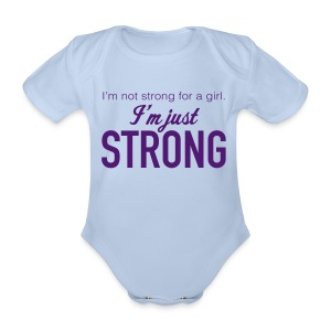 Strong Baby One Piece - Organic Short-sleeved Baby Bodysuit