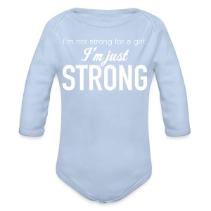 Strong Baby Long Sleeve One Piece - Organic Longsleeve Baby Bodysuit