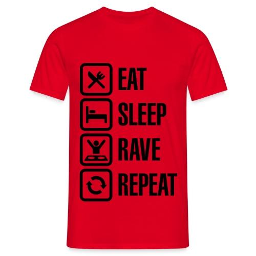 Maglia 'Eat sleep Rave repeat' - Maglietta da uomo