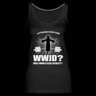 Tops ~ Women's Premium Tank Top ~ What Would Jesus Deadlift?