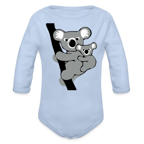 Koala  - Langærmet babybody, økologisk bomuld