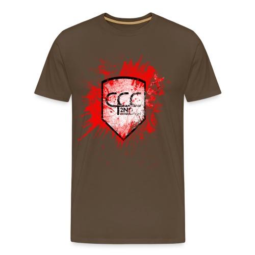 CCC Wappen grunged black red MX - Männer Premium T-Shirt