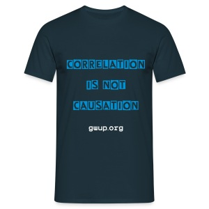 Herrenshirt Correlation/Causation - Männer T-Shirt