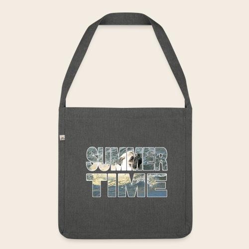 Mops Sommer Tasche - Schultertasche aus Recycling-Material