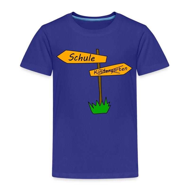 schule kindergarten wegweiser t shirt spreadshirt. Black Bedroom Furniture Sets. Home Design Ideas