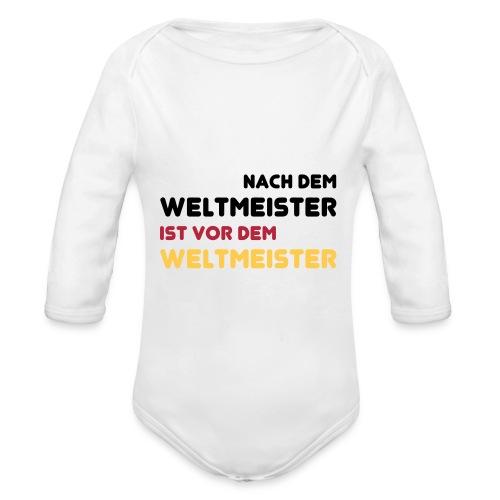 Babybody Weltmeister 2014 - Baby Bio-Langarm-Body