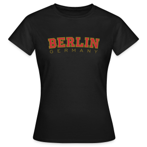 Berlin Germany T-Shirt (Damen/Schwarz) - Frauen T-Shirt