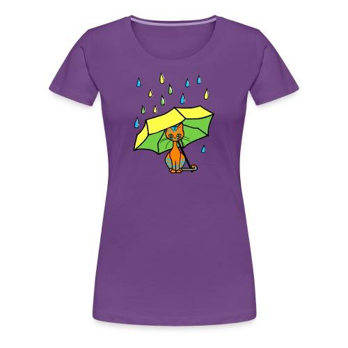 T-shirt femme - chaton parapluie - T-shirt Premium Femme
