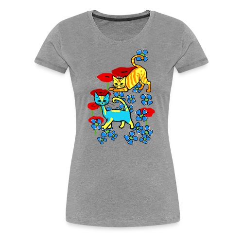 T-shirt femme - chatons fleurs - T-shirt Premium Femme