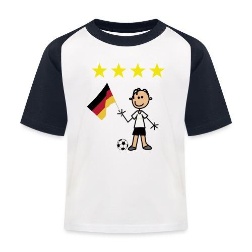 Fußballer - Kinder Baseball T-Shirt